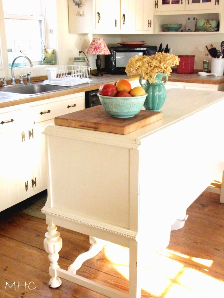 turning sideboard buffet into kitchen island