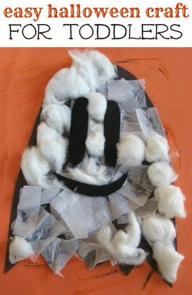 Easy Halloween craft for a toddler.