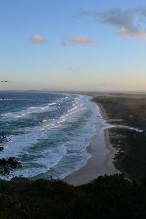 Beach behind Smoky Cape Lighthouse