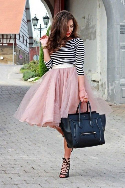 Striped-Top-And-Tulle-Skirt