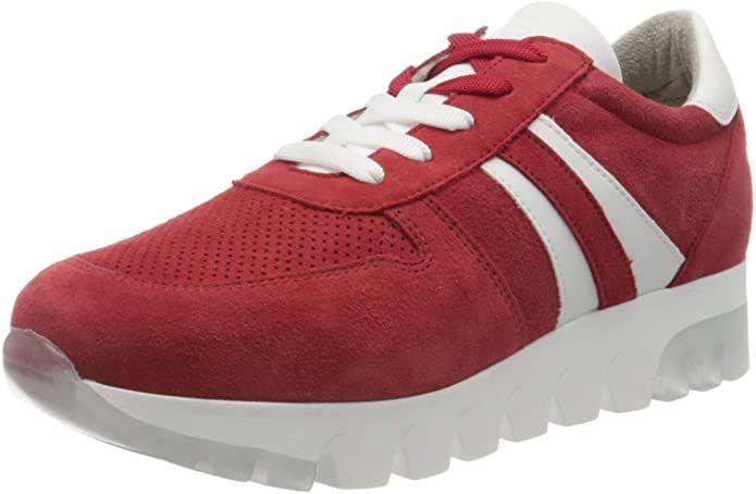 Tamaris Sneakers 23750-24 Damen Lippenstift Rot Suede in ...