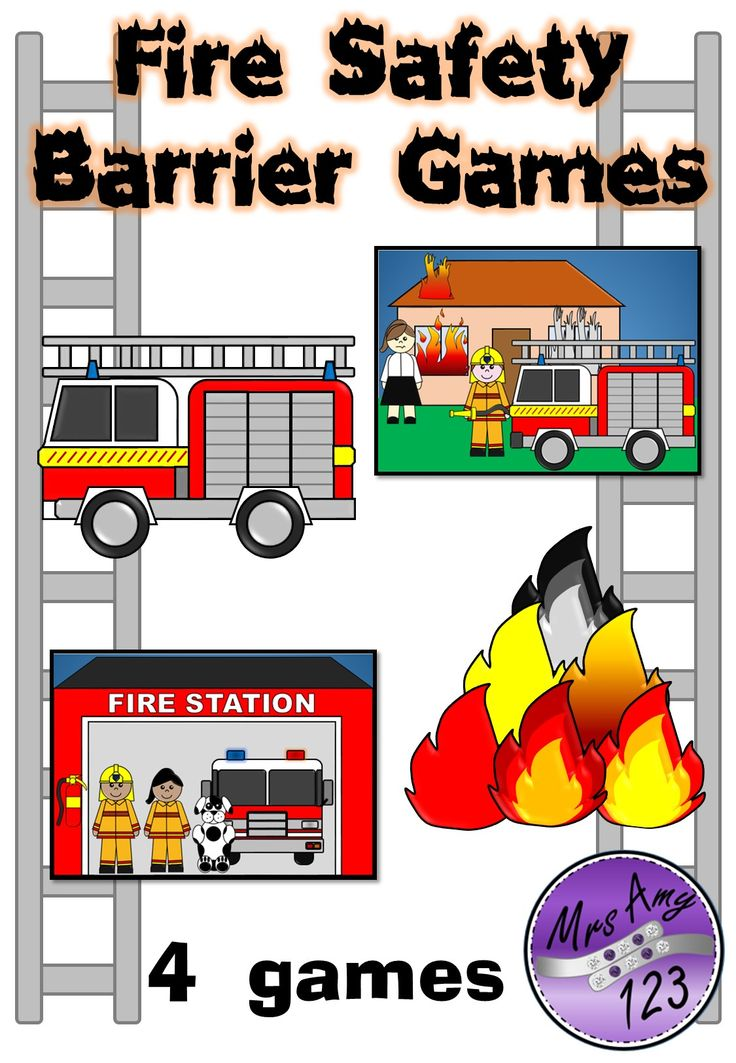 This Fire Safety Barrier Games download includes 4 fire safety themed barrier games. Included are: Teacher explanation pages (4 pages), Game backgrounds (2 pages), Game pieces (7 pages). 13 pages for $3.50! http://designedbyteachers.com.au/marketplace/fire-safety-barrier-games/