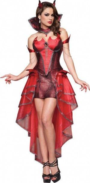 Diabla sexy. Encuentra cómo conseguir el disfraz en... http://www.1001consejos.com/15-increibles-disfraces-para-halloween/