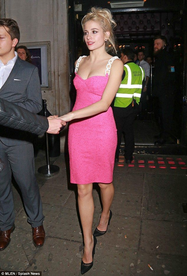 Night out: Pixie Lott made an appearance at Freedom Bar on Monday evening, shortly after p...