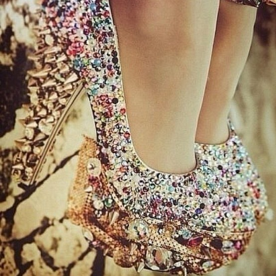 Glitter Pumps: Spikes Shoes, In Love, Crazy Shoes, Bling Shoes, Sparkly Shoes, High Heels, Rocks, Sparkle Shoes, Bling Bling