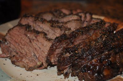 Oven smoked brisket(I did it in the crockpot)  Tastes JUST like Rudy's