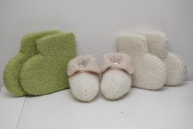 Godteposten: Strikka oppskrift på tova tøfler til baby og barn.