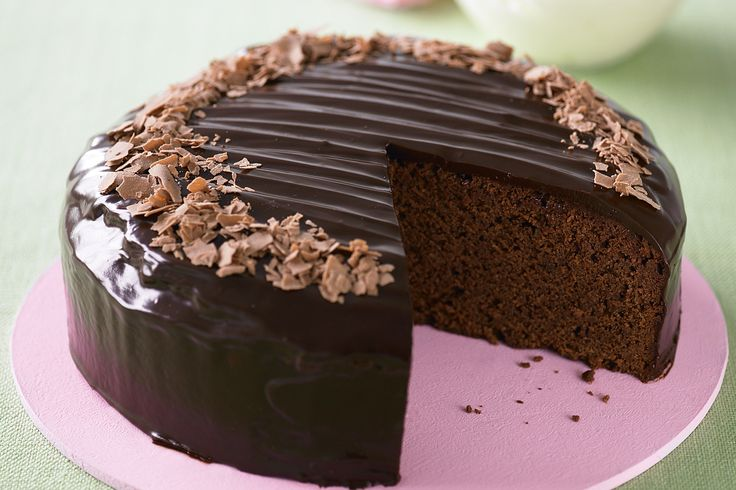 This stunning chocolate cake with creamy ganache topping is ideal as the centrepiece at the tea table.