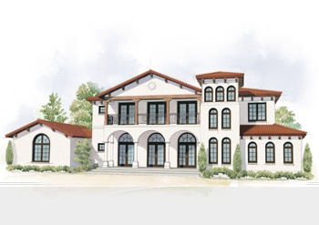 Spanish colonial home style rendering archicad models for Mobel kolonial style