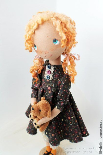 Collectible handmade dolls.  Fair Masters - handmade doll with a history-Xenia.  Handmade.
