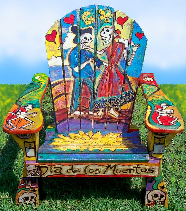 Wonder if I can come close to this with painting my adirondacks. ♥♥♥ Muertos chair