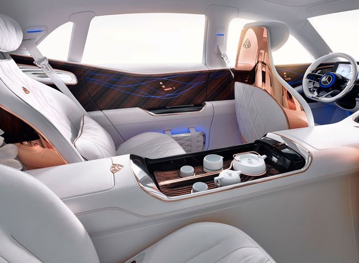 vision mercedes benz maybach ultimate luxury reveled w/ tea console