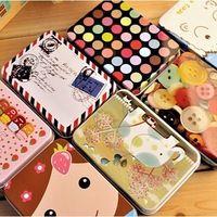 Бесплатная доставка железный ящик девушки ящик для хранения бесплатная прямоугольные конфеты ювелирные изделия ящик для хранения железный ящик полезная