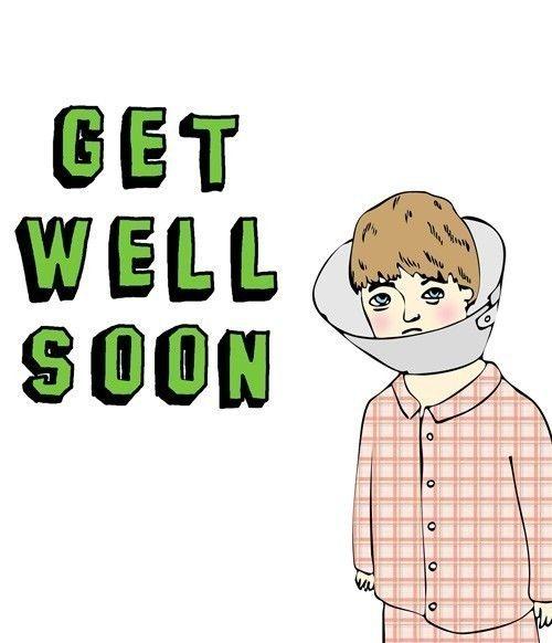 Get Well Soon Card - Cone Head. $5.45, via Etsy.