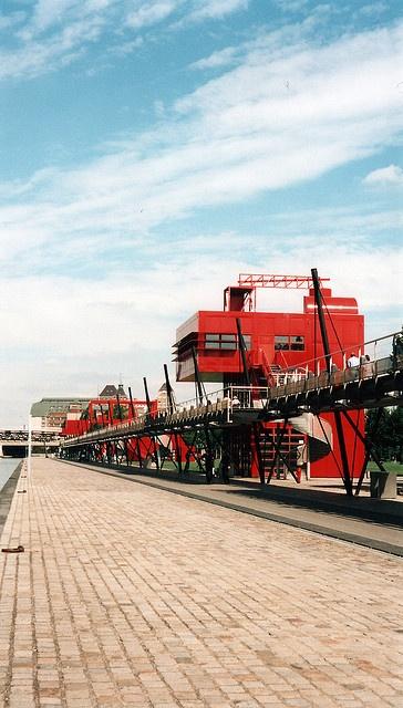 Parc de la Villette, Buidling designed by the architect : Bernard Tschumi  paris XIX
