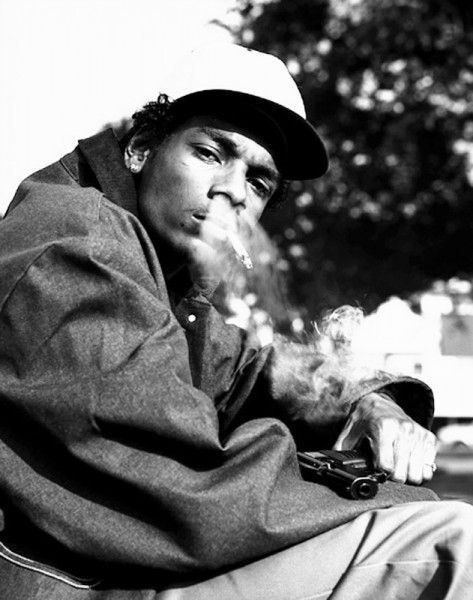 Before OG status, a 22 year-old Snoop Dogg (E/S Rollin 20s NHC) poses in this iconic photo around the time of his debut 'Doggystyle' album. (Taken photo c.1993)