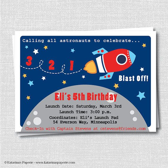 64 best BIRTHDAY PARTY ROCKET SHIP images – Rocket Ship Birthday Invitations