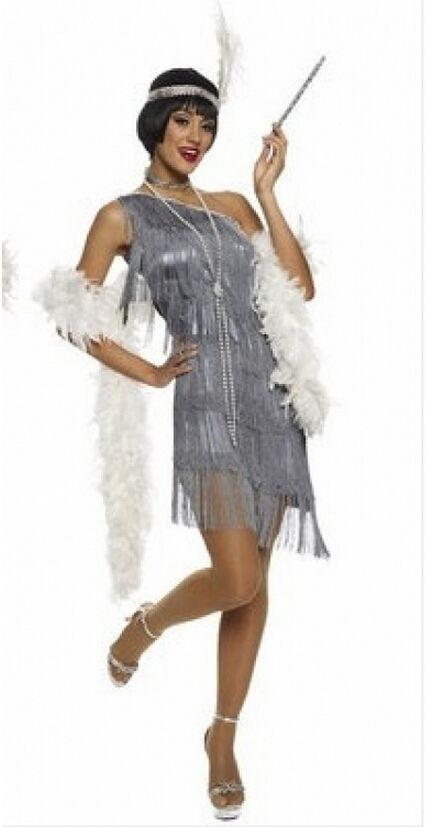 БЕСПЛАТНАЯ ДОСТАВКА 1920 е Чарльстон Грей Flapper Необычные платья Костюм + Боа , головная повязка, принадлежащий категории Костюмы и относящийся к Одежда и аксессуары на сайте AliExpress.com | Alibaba Group