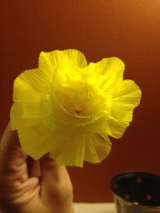 Crepe Paper Streamer Flowers - best one I've tried so far.