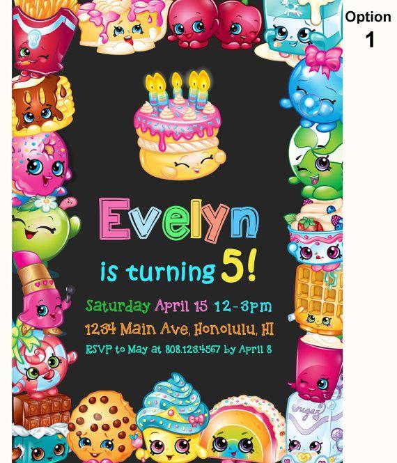 Shopkins Birthday Invitation Shopkins by StrawberryPartyPrint