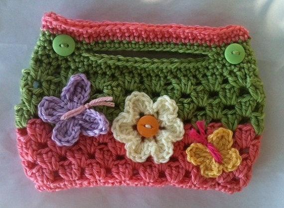 Little Girl's Crochet GARDEN BLOSSOM Pink n Green by shayahjane, $9.99