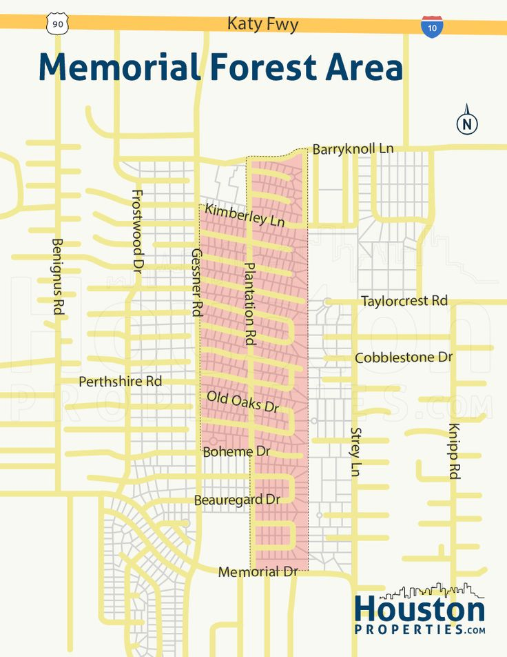 Memorial Forest Houston Maps: Two new Memorial Forest maps. Memorial Forest neighborhood and real estate guide. Map of Memorial Forest homes for sale.