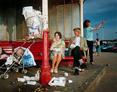 Martin_Parr_The_Last_Resort_Martin Parr is a documentary photographer best known for his 'everyday' photographs of Britain, in particular seaside and rural locations with a focus on 'working class' people and mundane or 'tacky' subjects. There is much humour in his work and his preference for vibrant colours gives his work a distinctive aesthetic.