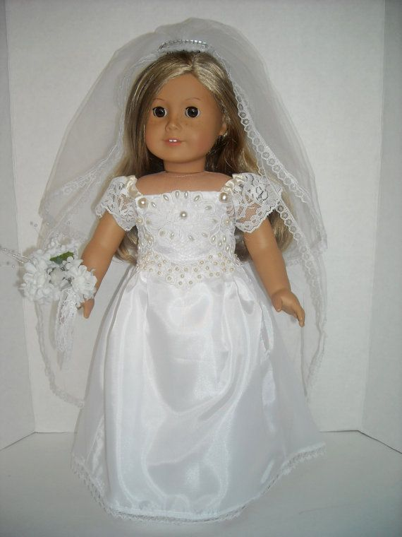 American girl 18 doll pearl embellished wedding gown and for American girl wedding dress