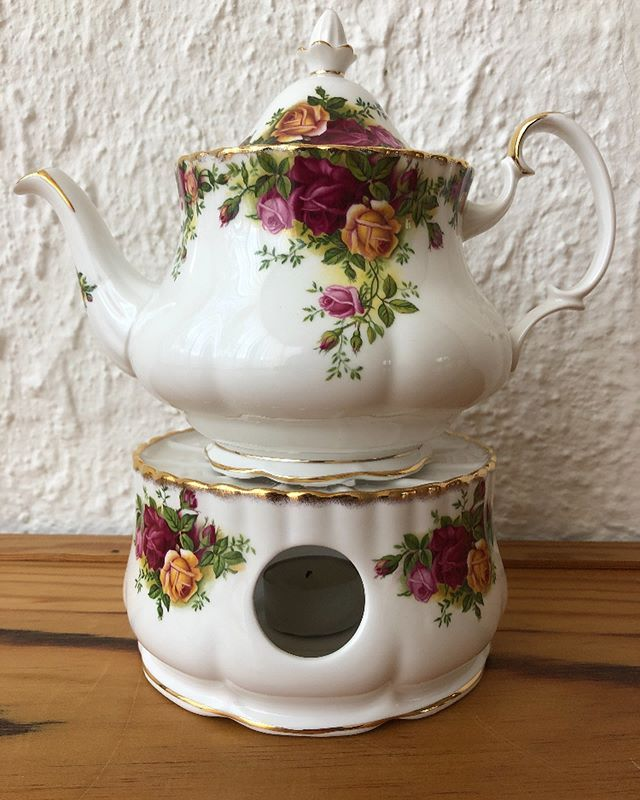 Vintage Royal Albert Ocr Teapot Coffee, China Teapot With Warmer