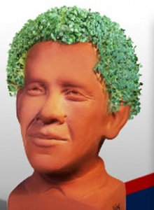 Obama Chia Pet in a retail box.  Im going to grow mine out then destroy it with a sledge hammer!!!!!