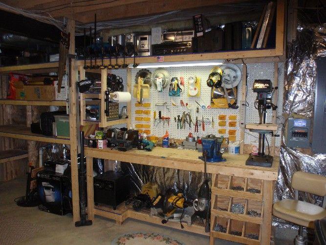 Well organized garage workshop workshop pinterest for Garages and workshops