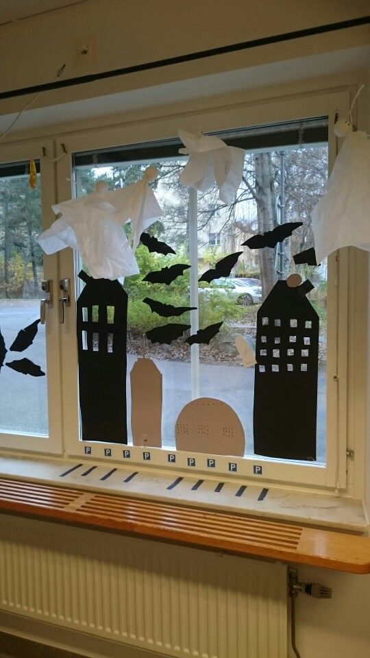 Stadsmiljö i fönstret