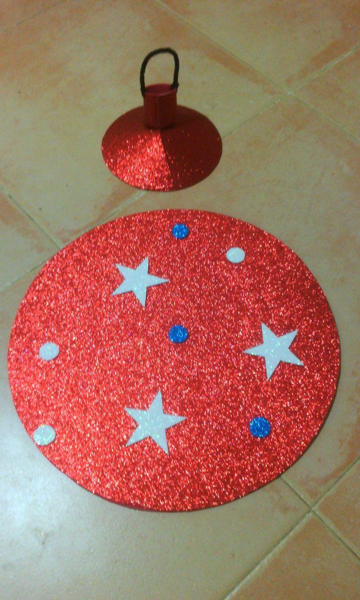Disfraz de bola de navidad para niño de 2 a 7 años.