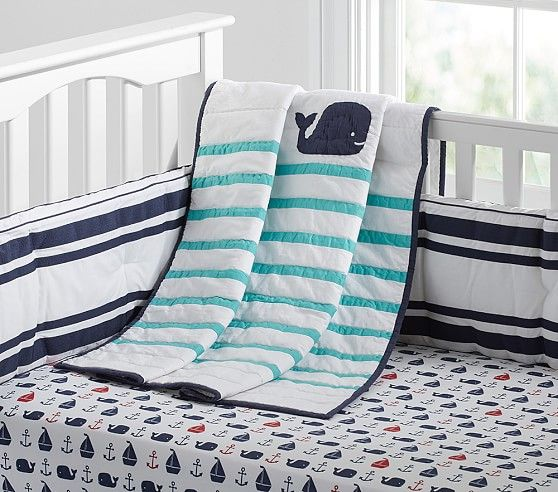 Hamptons Whale Baby Bedding Nautical Nursery