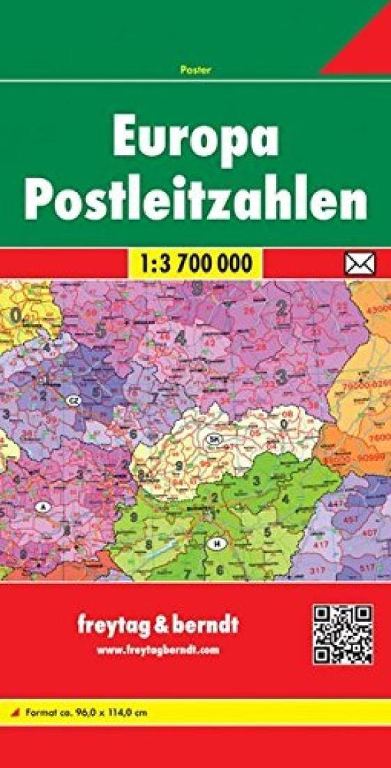 Europe, Postal Codes by Freytag-Berndt und Artaria