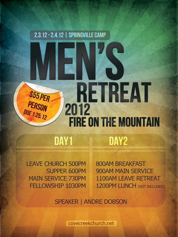 Sample of Mens Retreat Flyer Graphic Design