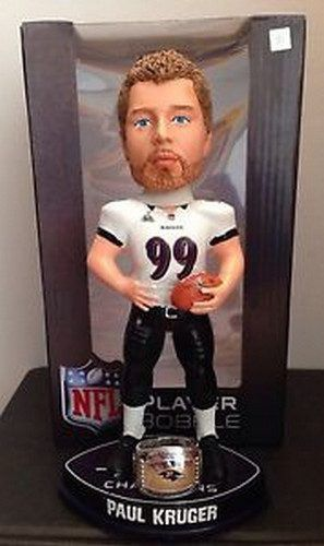 Paul Kruger Baltimore Ravens Super Bowl XLVII Champions NFL Bobblehead Forever Collectibles NIB NIP