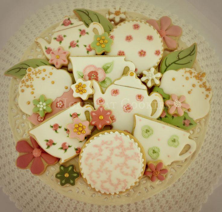 Vintage Tea Party cookie set | Cookie Connection