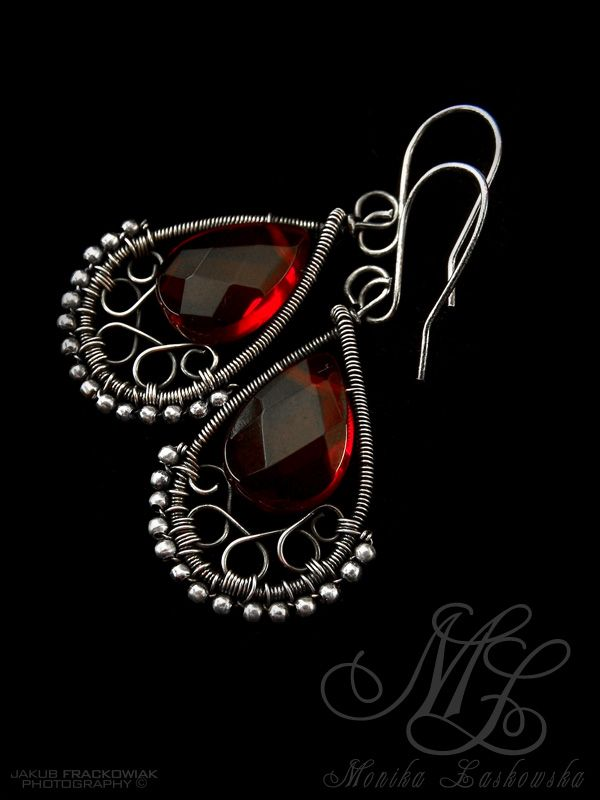 wire wrapped earrings tutorial