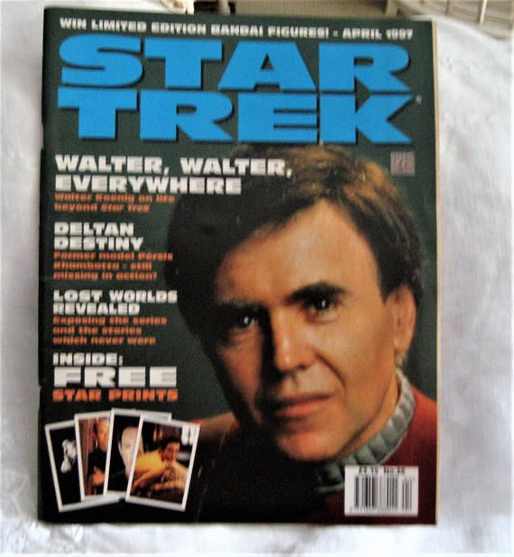 Star Trek Monthly Magazine April 1997 4 Free Prints Inside