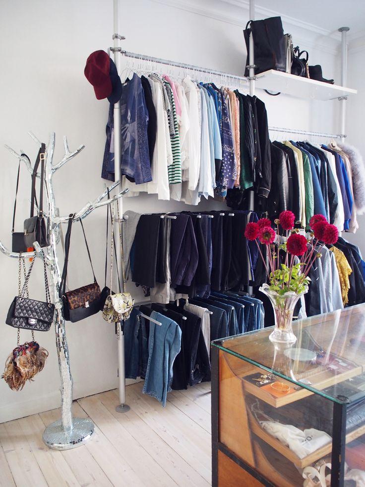 Beautiful walk in closet - via Trines Wardrobe