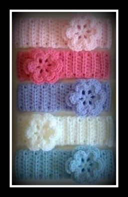 Crochet Baby Headbands Comes in a pack of eight Newborn to 7/8 child. $21.95, via Etsy.