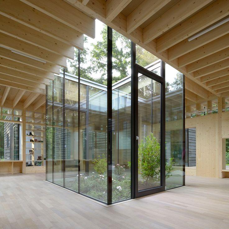 Kraus Schoenberg Architekten Nursery Opens Up To Forested Site
