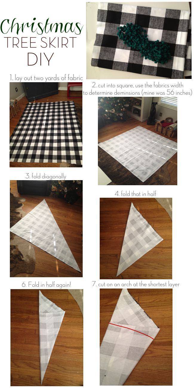 make your own Christmas tree skirt out of your fave fabric!! Love this~~by LowLife Couture