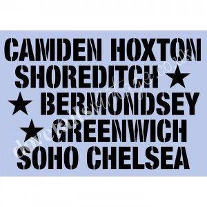 London Towns A3 stencil by Dovetails £14.95 #dovetails #dovetailsvintage #anniesloan #chalkpaint #paintedfurniture #stencil #sevenoaks
