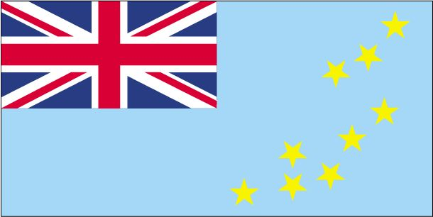 Country Flags: Tuvalu Flag