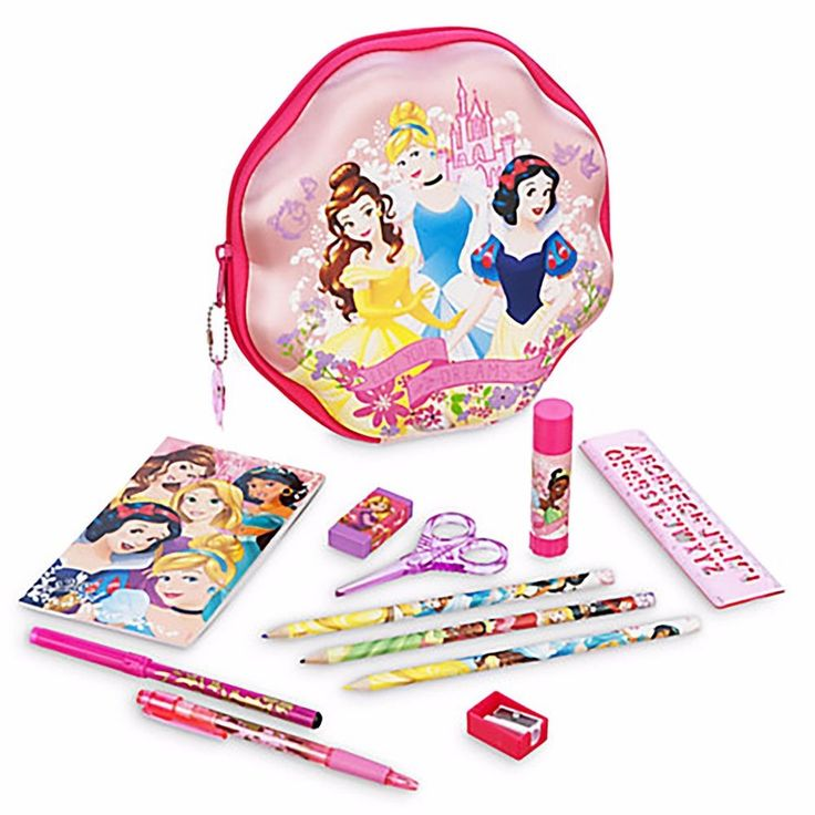 Disney Princess Live Your Dreams Zip-Up Stationery Kit— School Supplies New!