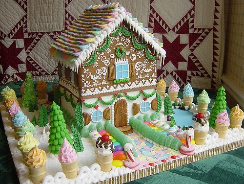 """ All photos by Sassybeautimus "" These are amazing gingerbread houses. All of them contain such elaborate details and innovative ways of using an assortment of candies. This baker doesn't seem to have..."