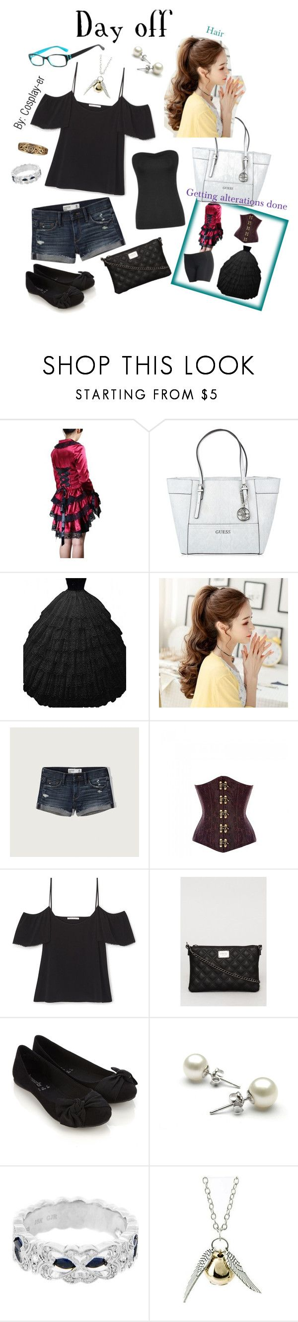 """""""Day Off"""" by cosplay-er ❤ liked on Polyvore featuring GUESS, Abercrombie & Fitch, Accessorize and Quiksilver"""