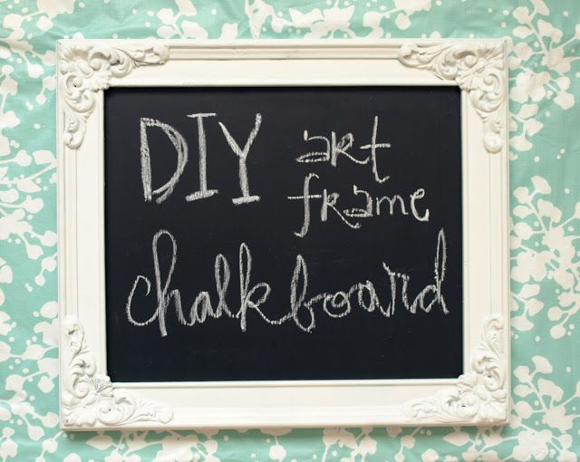 PS : ♡: diy : art frame chalkboards